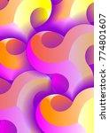 abstract 3d vector vertical...