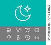 editable icons set with alarm ...