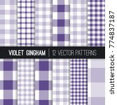 purple and lavender pixel... | Shutterstock .eps vector #774837187