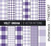 Purple And Lavender Pixel...