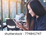 closeup image of a beautiful... | Shutterstock . vector #774841747