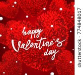 happy valentines day greeting... | Shutterstock .eps vector #774848017