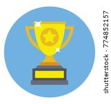 a golden prize cup... | Shutterstock .eps vector #774852157
