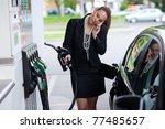 attractive elegant woman in... | Shutterstock . vector #77485657