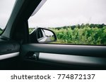 reflection of asphalt highway... | Shutterstock . vector #774872137