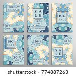 sale banners  flyers with... | Shutterstock .eps vector #774887263