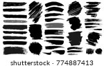 set of grunge paint. painted... | Shutterstock .eps vector #774887413