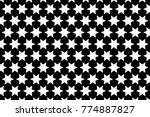 Six Pointed Star   Black And...