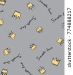 hand drawn pattern and... | Shutterstock .eps vector #774888217