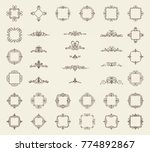 vintage decor elements and... | Shutterstock . vector #774892867