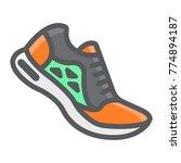 running shoes filled outline...   Shutterstock .eps vector #774894187