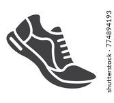 running shoes glyph icon ... | Shutterstock .eps vector #774894193