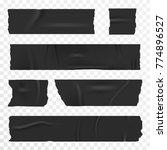 adhesive tape set on... | Shutterstock .eps vector #774896527