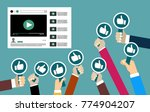 group of business people with... | Shutterstock .eps vector #774904207