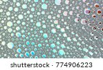 macro shot foam bubble from... | Shutterstock . vector #774906223