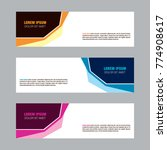 vector modern background banner ... | Shutterstock .eps vector #774908617