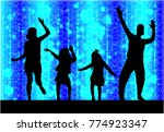 family silhouettes . abstract... | Shutterstock .eps vector #774923347