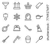 thin line icon set   funnel ... | Shutterstock .eps vector #774927697