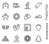 thin line icon set   barn ... | Shutterstock .eps vector #774927733