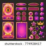 vector cartoon background for... | Shutterstock .eps vector #774928417