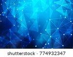 digital abstract technology... | Shutterstock . vector #774932347