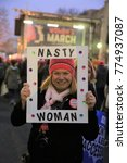 Small photo of WASHINGTON, DC, UNITED STATES OF AMERICA - JANUARY 21, 2017: Women's March to advocate legislation and policies regarding women's rights, immigration reform, healthcare reform, reproductive rights,  L