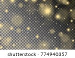 abstract shiny yellow sparcles... | Shutterstock .eps vector #774940357