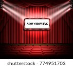 red curtain and empty... | Shutterstock .eps vector #774951703