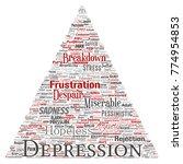 conceptual depression or mental ...   Shutterstock . vector #774954853