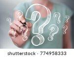 businesswoman on blurred... | Shutterstock . vector #774958333