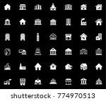 building icons set | Shutterstock .eps vector #774970513
