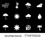 weather icons set | Shutterstock .eps vector #774970543