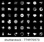 shipping icons set | Shutterstock .eps vector #774970573