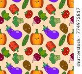 vegetable seamless patterns...