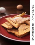 chiacchiere typical italian...   Shutterstock . vector #774973783