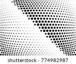 abstract halftone wave dotted...   Shutterstock .eps vector #774982987