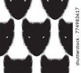 animal face line art wool black ...   Shutterstock .eps vector #774983617
