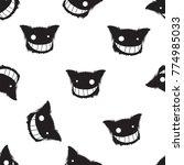 monster face smile wool horror...   Shutterstock .eps vector #774985033