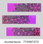 ethnic banners template with...   Shutterstock .eps vector #774987373