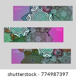 ethnic banners template with...   Shutterstock .eps vector #774987397