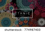 ethnic banners template with...   Shutterstock .eps vector #774987403