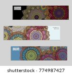 ethnic banners template with...   Shutterstock .eps vector #774987427