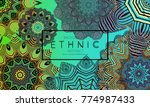 ethnic banners template with...   Shutterstock .eps vector #774987433