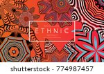 ethnic banners template with...   Shutterstock .eps vector #774987457