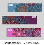 ethnic banners template with...   Shutterstock .eps vector #774987823