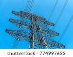 electrical transmission tower | Shutterstock . vector #774997633