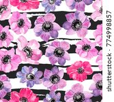 illustration of floral seamless ... | Shutterstock . vector #774998857