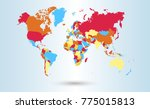color world map vector | Shutterstock .eps vector #775015813