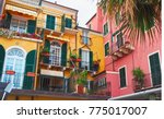 colorful facades of famous...   Shutterstock . vector #775017007