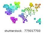 dark multicolor  rainbow vector ... | Shutterstock .eps vector #775017703